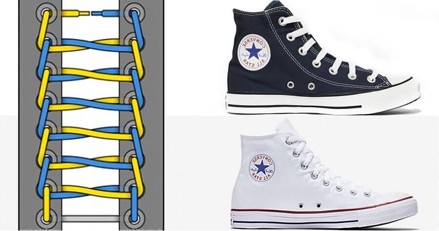 Các cách buộc dây giày Converse cổ cao đẹp chất ngất