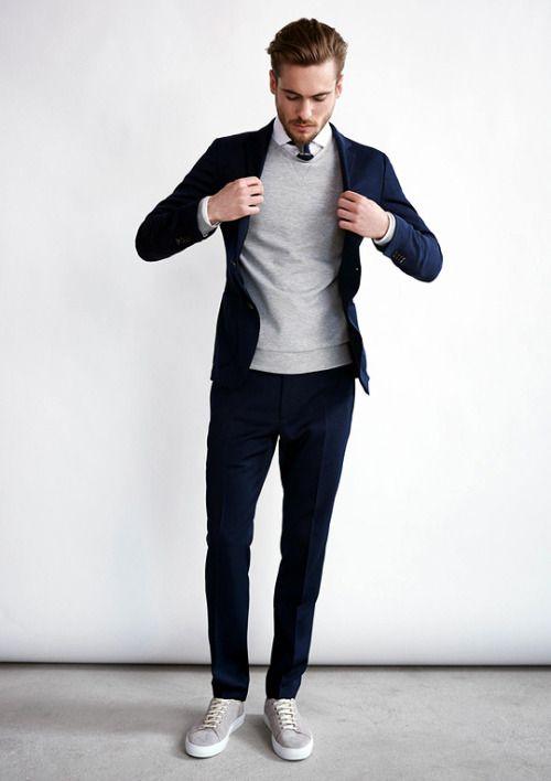 Quý ông sành điệu phải mặc veston với giày thể thao!