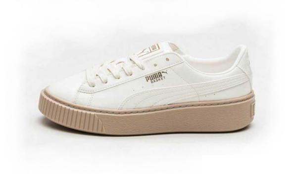 Giày thể thao PUMA Basket Platform Patent Marshmallow Nữ