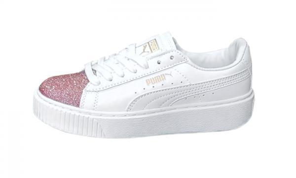 Giày thể thao PUMA Suede Platform Nhũ Hồng Nữ