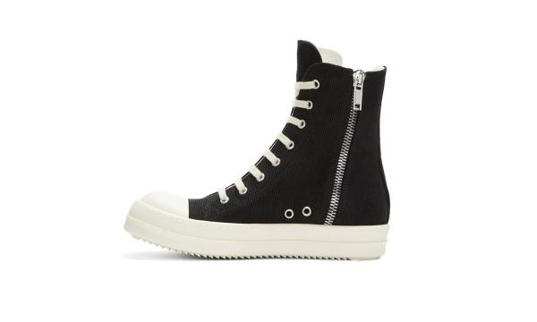 Giày thể thao Rick Owens High Replica-Top Black / White