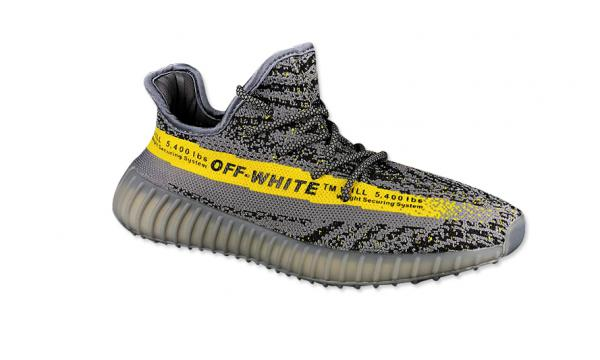 Giầy thể thao Adidas Yeezy 350 Off White Core Grey Yellow REPLICA
