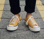 Giày thể thao Converse 1970s Chuck Taylor 2 Cổ thấp  Vàng Rep 1:1 - image 1