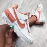 Giầy thể thao Nike Air Force 1  Low White Coral Pink Nữ - image 2