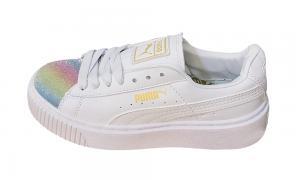 Giày thể thao PUMA Suede Platform Nhũ Rainbow Nữ - image 0